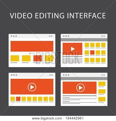 Video editing software interface - media production software window