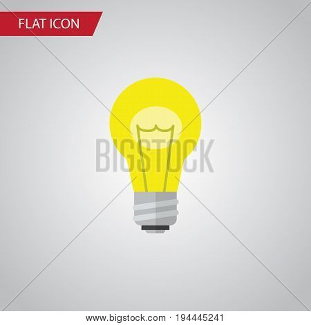 Isolated Idea Flat Icon. Bubl Vector Element Can Be Used For Idea, Bulb, Light Design Concept.
