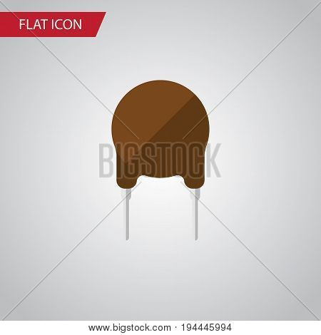 Isolated Fiildistor Flat Icon. Triode Vector Element Can Be Used For Triode, Fiildistor, Electronics Design Concept.