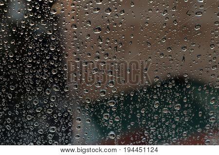 Drops Of Rain On The Window