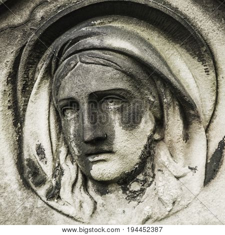 Statue of Virgin Mary as a symbol of love and kindness