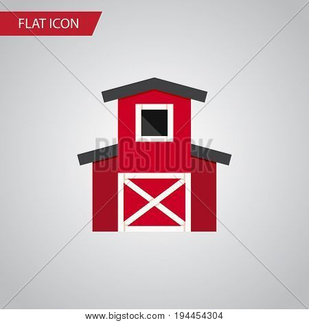 Isolated Hangar Flat Icon. Depot Vector Element Can Be Used For Depot, Barn, Hangar Design Concept.