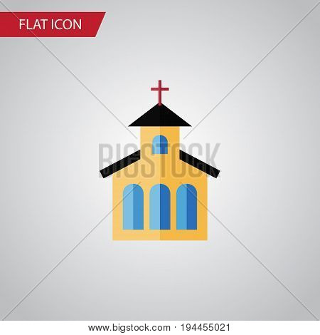 Isolated Traditional Flat Icon. Catholic Vector Element Can Be Used For Catholic, Church, Traditional Design Concept.