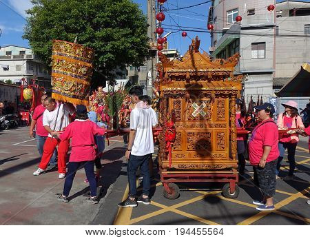 Religious Ceremony In Taiwan