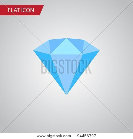 Isolated Wealthy Flat Icon. Karat Vector Element Can Be Used For Karat, Jewelry, Wealthy Design Concept.