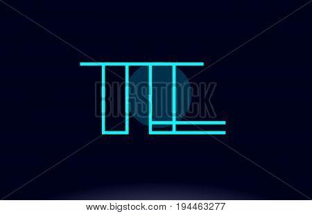 Te T E Blue Line Circle Alphabet Letter Logo Icon Template Vector Design