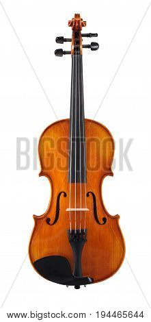 modern wooden cello isolated on white background