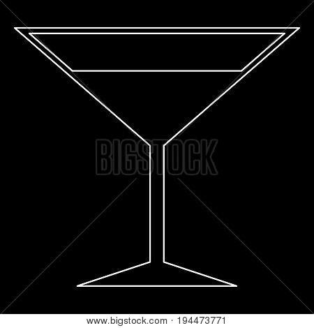 Martini Glass  The White Path Icon .