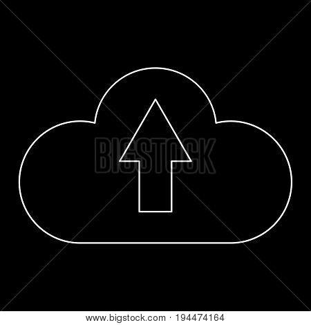 Cloud Service  The White Path Icon .