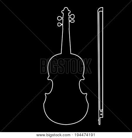 Violin  The White Path Icon .