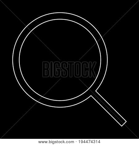 Magnifying Glass Or Loupe  The White Path Icon .