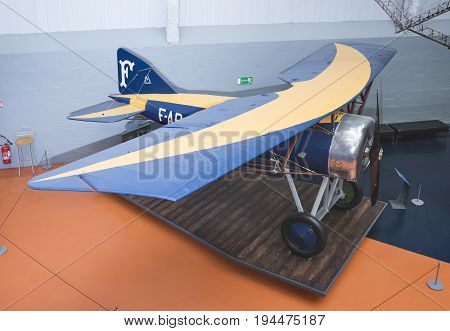 Le Bourget Paris France- May 042017: Morane-Saulnier Al (1917)in the Museum of Astronautics and Aviation Le Bourget Le Bourget Paris France- May 042017: Morane-Saulnier Al (1917)in the Museum of Astronautics and Aviation Le Bourget