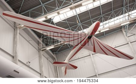 Le Bourget; Paris; France- May 04; 2017: Aircraft in the Museum of Astronautics and Aviation Le Bourget