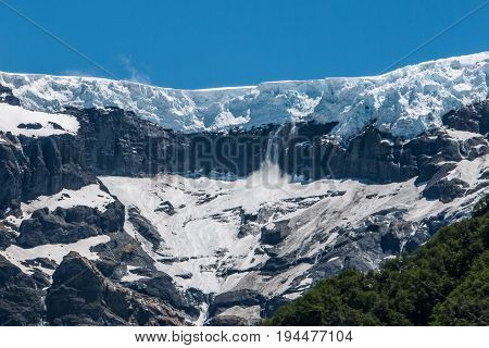 Ventisquero Negro glacier from Tronador volcano Argentina
