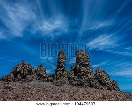 Roque de los Muchachos peak in Canary Islands