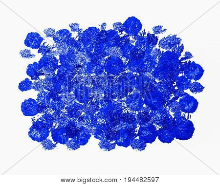 Spotted blue acrylic background. Background of blue paint drops