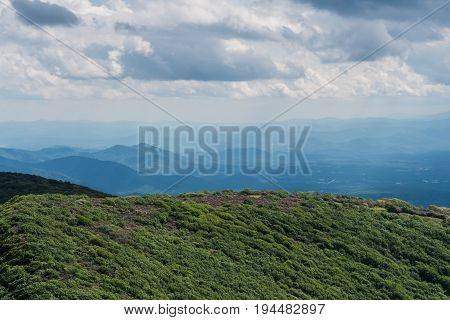 Wide View of Craggy Gardens in Spring Along the Blue Ridge Parkway