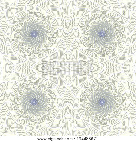 Seamless guilloche vector background grid. Moire ornament texture with waves. Pattern for money warranty, certificate, diploma