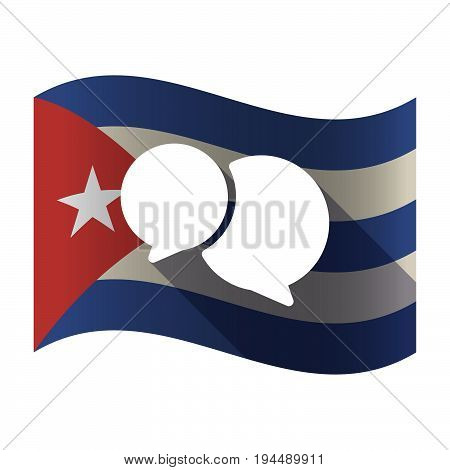 Isolated Cuba Flag With  Comic Balloons