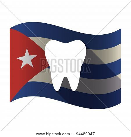 Isolated Cuba Flag With A Tooth
