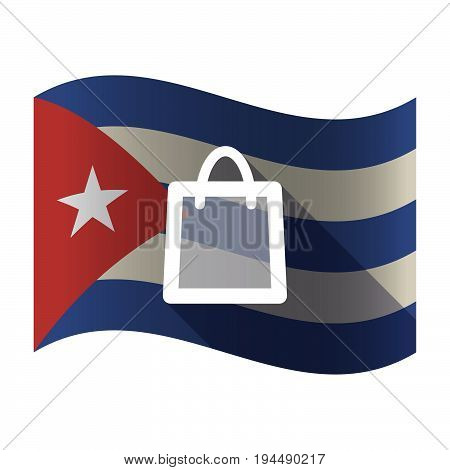 Isolated Cuba Flag With A Shopping Bag