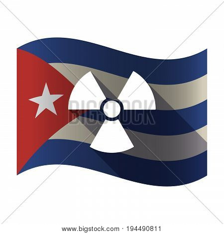 Isolated Cuba Flag With A Radio Activity Sign