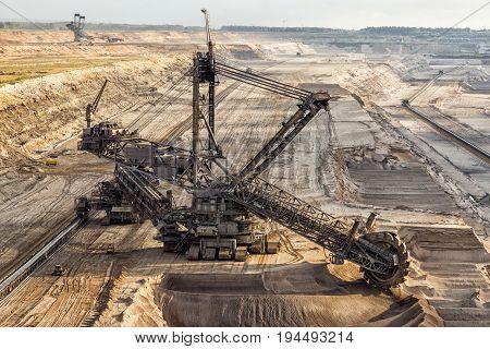 Bucket-wheel Excavator Mining.