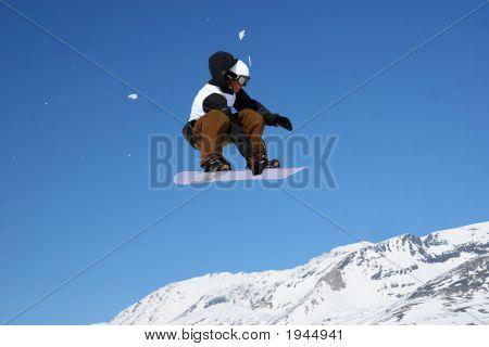 Snowboarder Grabbing