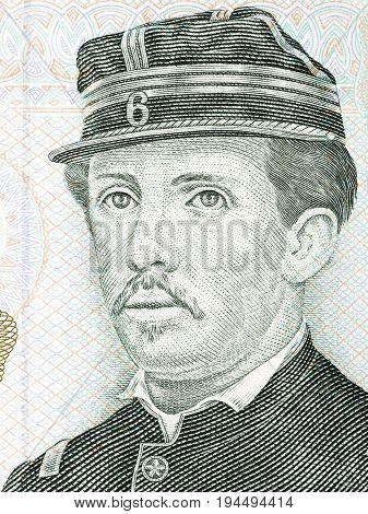 Ignacio Carrera Pinto portrait from Chilean money