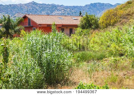 House And Overgrown Garden In Giardini Naxos Town