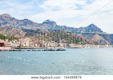 Ionian Sea Near Waterfront Of Giardini Naxos Town