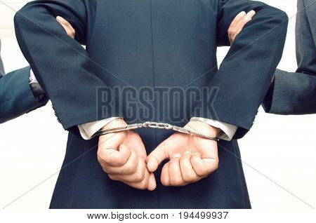 Businessman Being Arrested