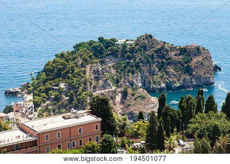View Of Cape Near Isola Bella Island From Taormina