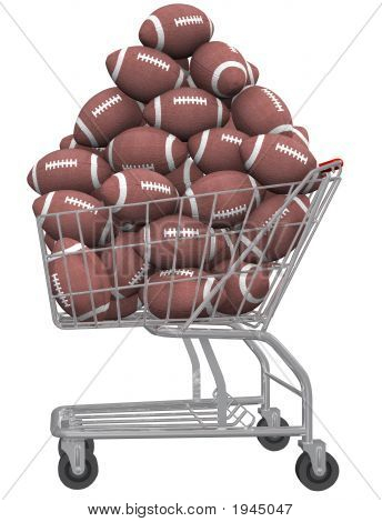 Footballs In Shopping Cart