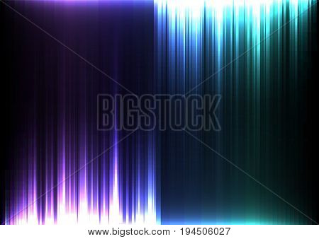 light stream of purple and blue upside down digital line abstract background, light bar opposite template, technology stream layout, vector illustration