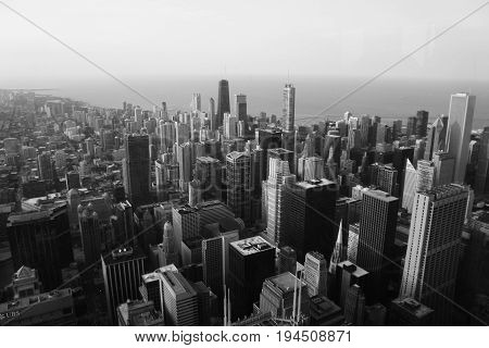 This is a view from the Willis Tower in Chicago Illinois.
