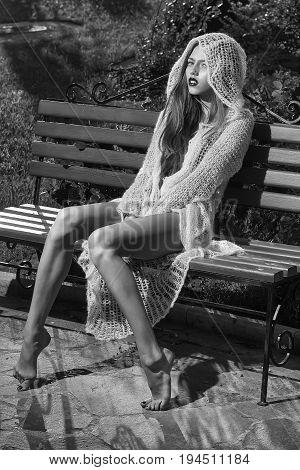 Girl Sittting On The Street