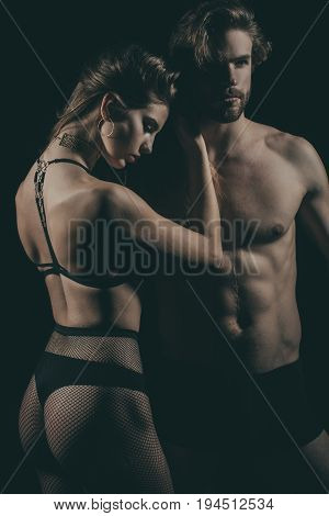 Woman And Man In Sexy Underwear