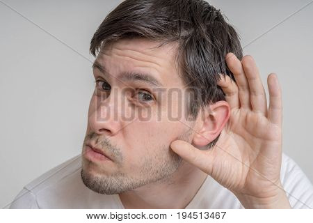 Young Man Is Listening To You Carefully.