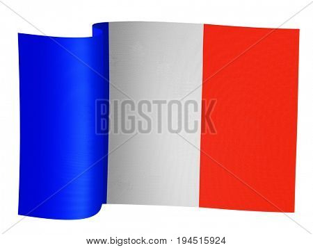 illustration of the French flag on a white background