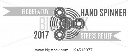 Toy of 2017 spinner the best way to relieve stress at work in black and white
