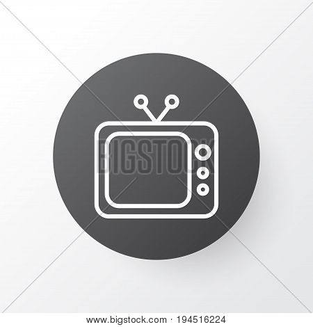 Tv Icon Symbol. Premium Quality Isolated Television  Element In Trendy Style.