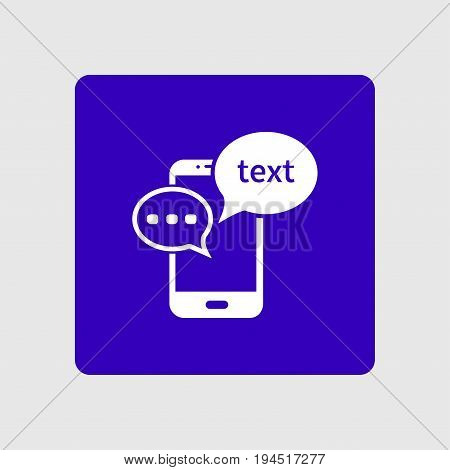 Mobile chatting icon.Mobile Phone Representing Web Chatting And Dialog.