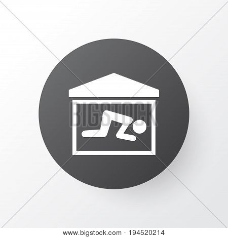 Praying Icon Symbol. Premium Quality Isolated Room  Element In Trendy Style.