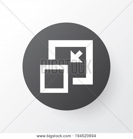 Minimize Icon Symbol. Premium Quality Isolated Decrease Element In Trendy Style.