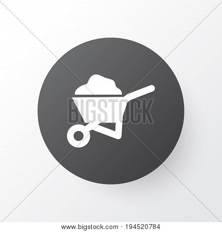 Wheelbarrow Icon Symbol. Premium Quality Isolated Carry Cart Element In Trendy Style.