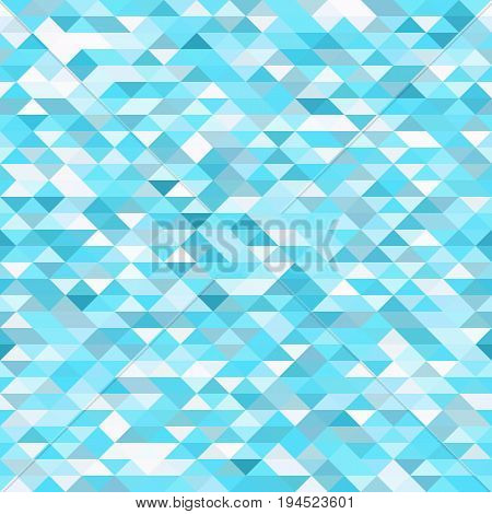 Seamless bright pattern of small triangles in blue and turquoise tones. Background for the design of the surface. Abstract geometric wallpaper.