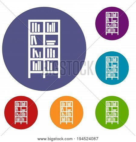Bookcase in simple style isolated on white background vector illustration
