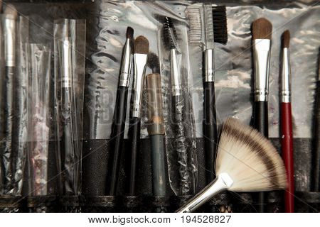 tools makeup in a beauty salon . A photo