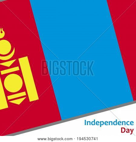 Mongolia independence day with flag vector illustration for web